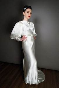 1930s vintage wedding dresses a guide to the decade of With white silk slip wedding dress