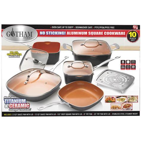 gotham steel  pc nonstick square cookware set  gotham steel  fleet farm