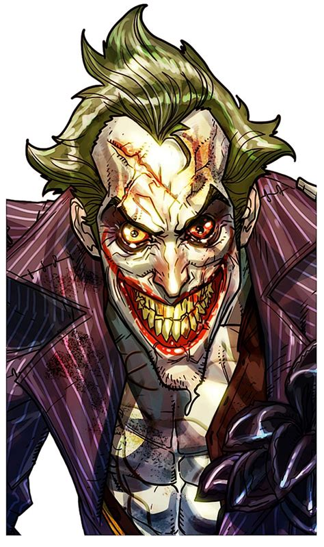 Arkham City Artwork by Joker Concept Face Video Games Artwork
