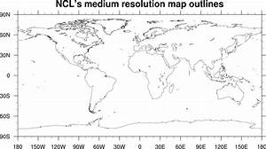 NCL map outlines