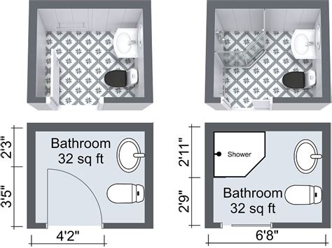 Floor Plan Small Bathroom by 10 Small Bathroom Ideas That Work Roomsketcher