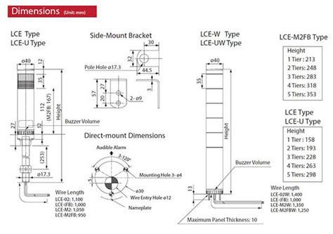 lce 302ufb ryg lce series 40mm led signal tower patlite valin