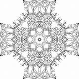 Coloring Adult Pages Kaleidoscope sketch template