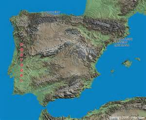 Spain Mountain Ranges Map