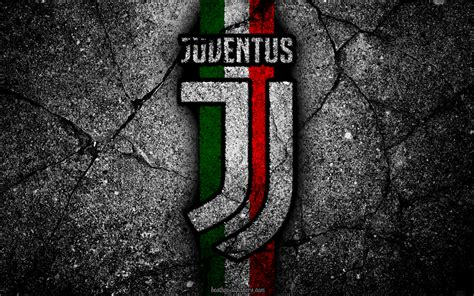Download wallpapers Juventus, stone texture, new logo ...