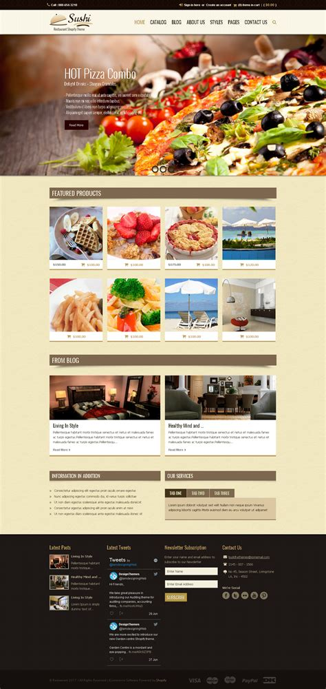 Premium Themes 5 Best Shopify Premium Themes Collection For Food Store 2017