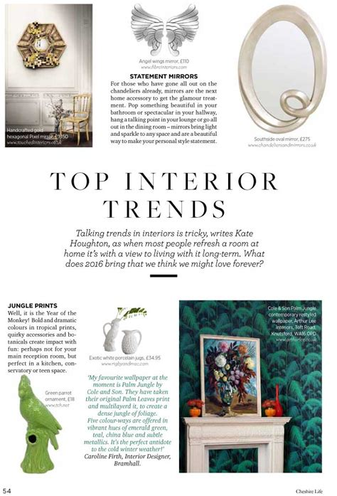 interior design articles cheshire interior design press articles