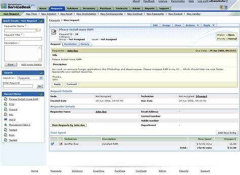 manage engine service desk plus application manager integration help desk software