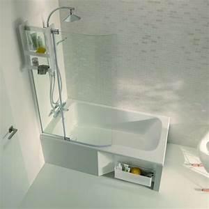 Douche Petit Espace : baignoire avec espace douche de 85 ou 90 cm malice jacob delafon ~ Voncanada.com Idées de Décoration