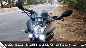 Cob Led Light On Suzuki Gixxer Sf Sp
