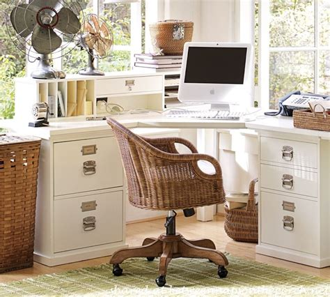 pottery barn office desk 12 space saving designs using small corner desks