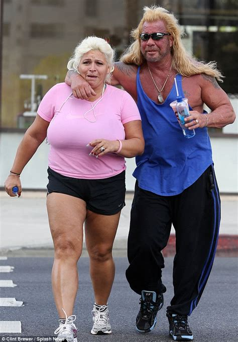 dog the bounty hunter and his buxom wife beth chapman head to a tanning salon daily mail online