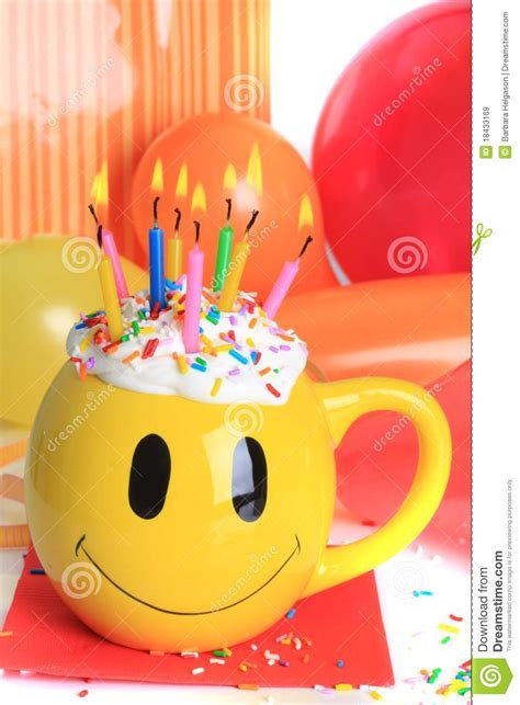 happy birthday cupcake  candles stock image image