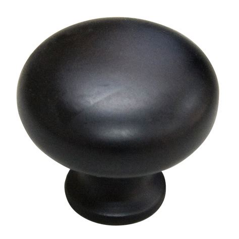 Style Selections 1 1 4 In Matte Black Mushroom Cabinet