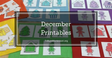 december printables trillium montessori 281   December Printables Montessori Preschool Activities