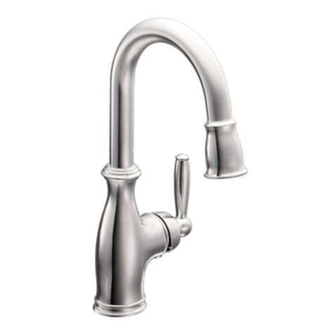 moen brantford kitchen faucet moen 5985 brantford one handle high arc pulldown single mount bar faucet chrome bar sink