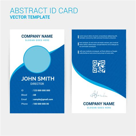 id card design template abstract creative id card design template free
