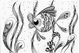 Coloring Fish Silver Fishes Adult Expression Fishy Something Doodles Poisson Coloriage Doodle Relajante Peces Colorear Dibujo Para Zentangle Drawing Reef sketch template