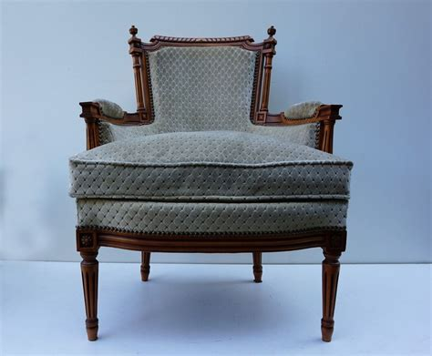 Vintage French Louis Xvi Style Salon Armchairs With
