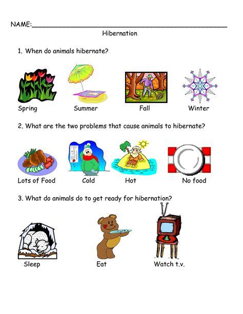 worksheets hibernation search hibernation printable worksheets