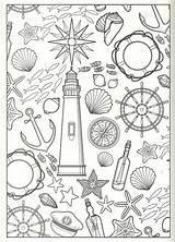 Coloring Collage Pages Nautical Printable Dolphin Sheets Print Christmas Getcolorings sketch template