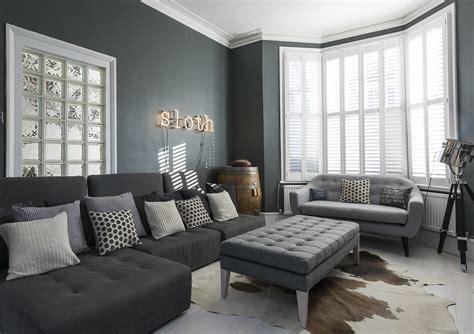 Gray Living Room Blue Kitchen by Tasman Road Clapham Grand Design