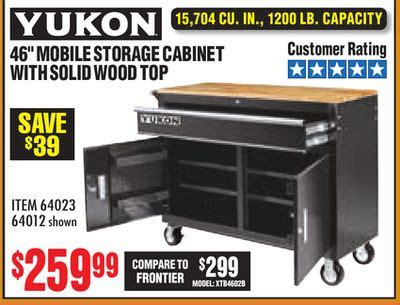 mobile storage cabinet  wood top yukon bruin blog