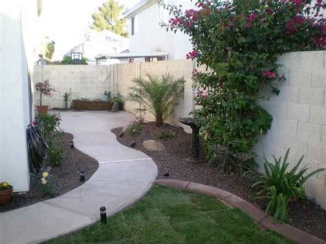 idea   long side yard     cement  grass