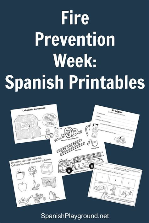 Fire Prevention Week: Spanish Printables   Spanish Playground