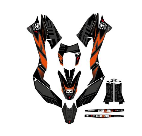 supermoto central ktm 690 smc effetti racing mx graphics grafiche motocross the of