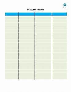 T Chart 4 Columns