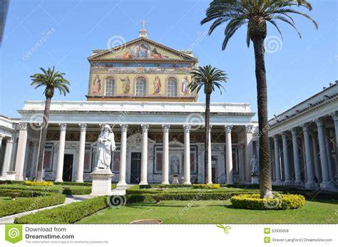 libreria san paolo roma basilica papale san paolo fuori le mura stock photo