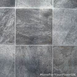 grey tile vinyl flooring kitchen bathroom lino ebay