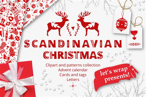 library  scandinavian christmas clipart black  white library png files clipart art