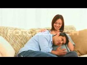 Husband Listening To His Pregnant Wife's Belly - YouTube