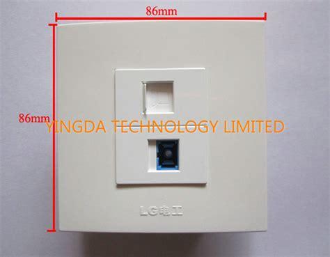 retardant network rj45 optical fiber cable outlet wall socket panel sc