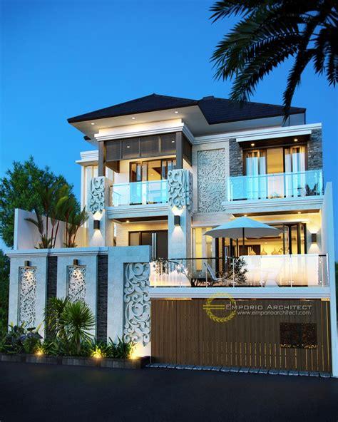 desain rumah mewah  lantai   lantai style villa bali