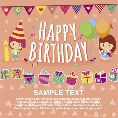 happy birthday card template vector