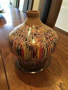 the large pencil vase woodturning project wood turning