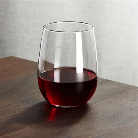 stemless red wine glass  oz reviews crate  barrel