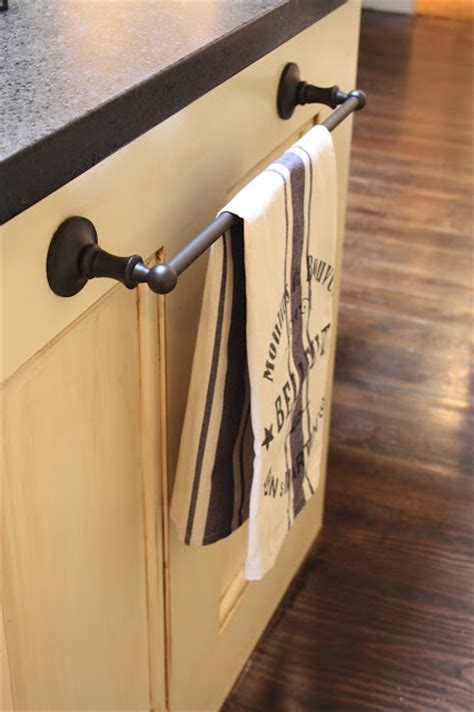 kitchen towel rack my sweet on using bathroom hardware in the kitchen