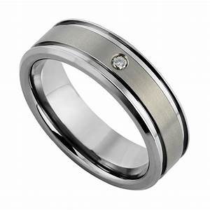 Wedding rings titanium vs tungsten weight black titanium for Tungsten wedding ring reviews
