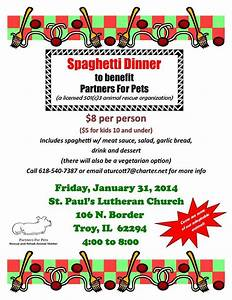 Spaghetti Dinner Fundraiser | Fun of Fundraising ...