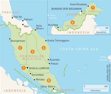map  malaysia malaysia regions rough guides