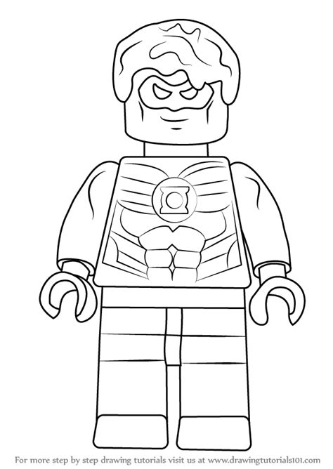 How To Draw A Lego Boat by Step By Step How To Draw Green Lantern From The Lego