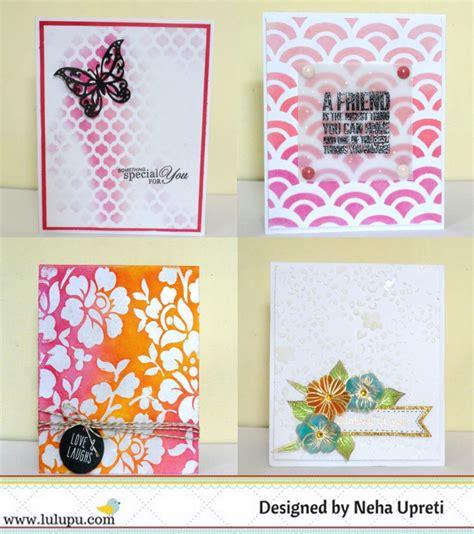 lulupu  craft lounge cas cards  stencils