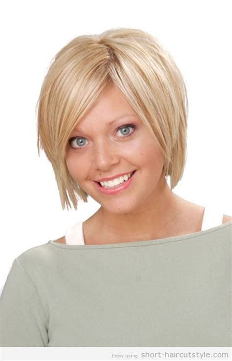 cool  haircuts  fuller faces short hairstyles  fat faces  bangs  fat