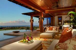 hawaiian backyard patio tropical with orange lanai