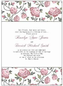 blank wedding invitation template wblqualcom With wedding template invitations to print free