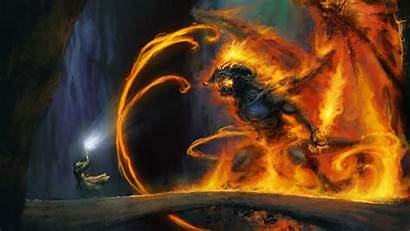 Lord Rings Balrog Wallpapers Background Wall
